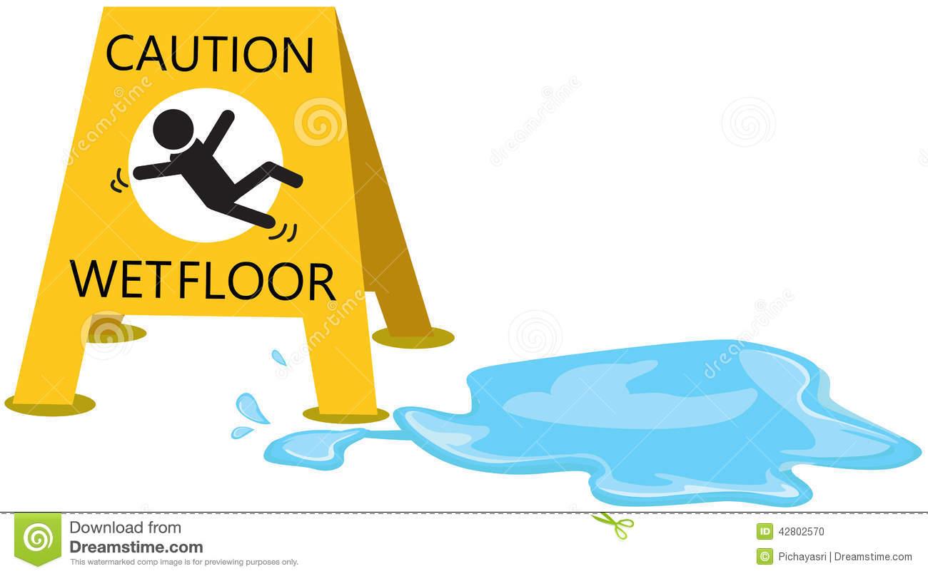 Slippery . Caution clipart caution wet floor