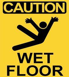 Caution clipart caution wet floor. Free sign
