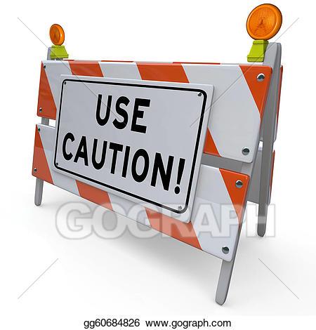 Caution clipart cautious. Clip art use construction