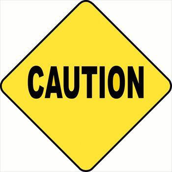 Image of clipartoons. Caution clipart clip art