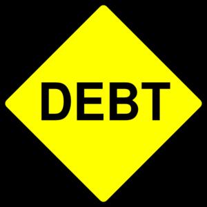 Caution clipart clip art. Debt sign at clker