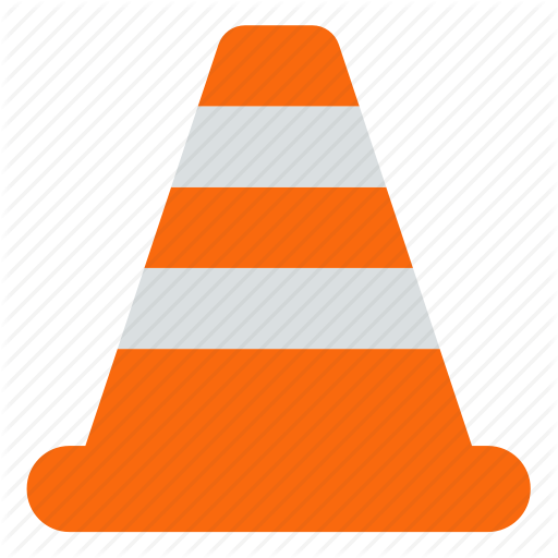 Caution clipart cone. Construction icon set by