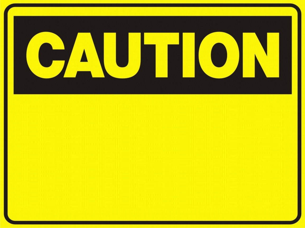 Caution clipart construction. Blank sign free download