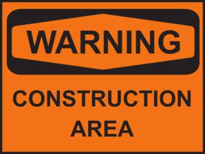 Area warning clip art. Caution clipart construction