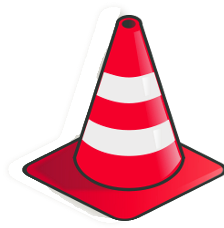 Image of caution construction. Working clipart road work