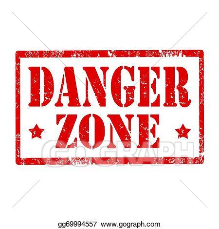 Vector stock stamp illustration. Caution clipart danger zone