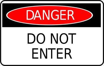 Caution clipart danger zone. Cliparts sign