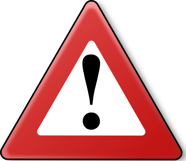 Circle style warning clip. Caution clipart danger zone