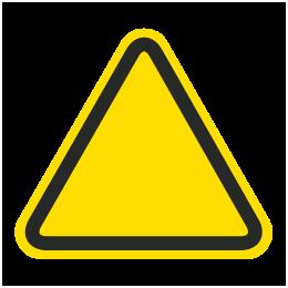 Caution clipart emergency sign. Custom iso hazard symbol