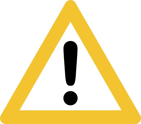 Warning clip art free. Caution clipart emergency sign