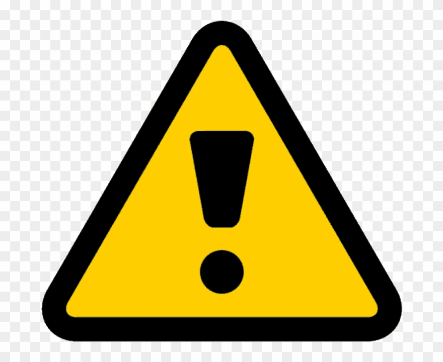 Caution clipart emergency sign. Warning triangle pinclipart