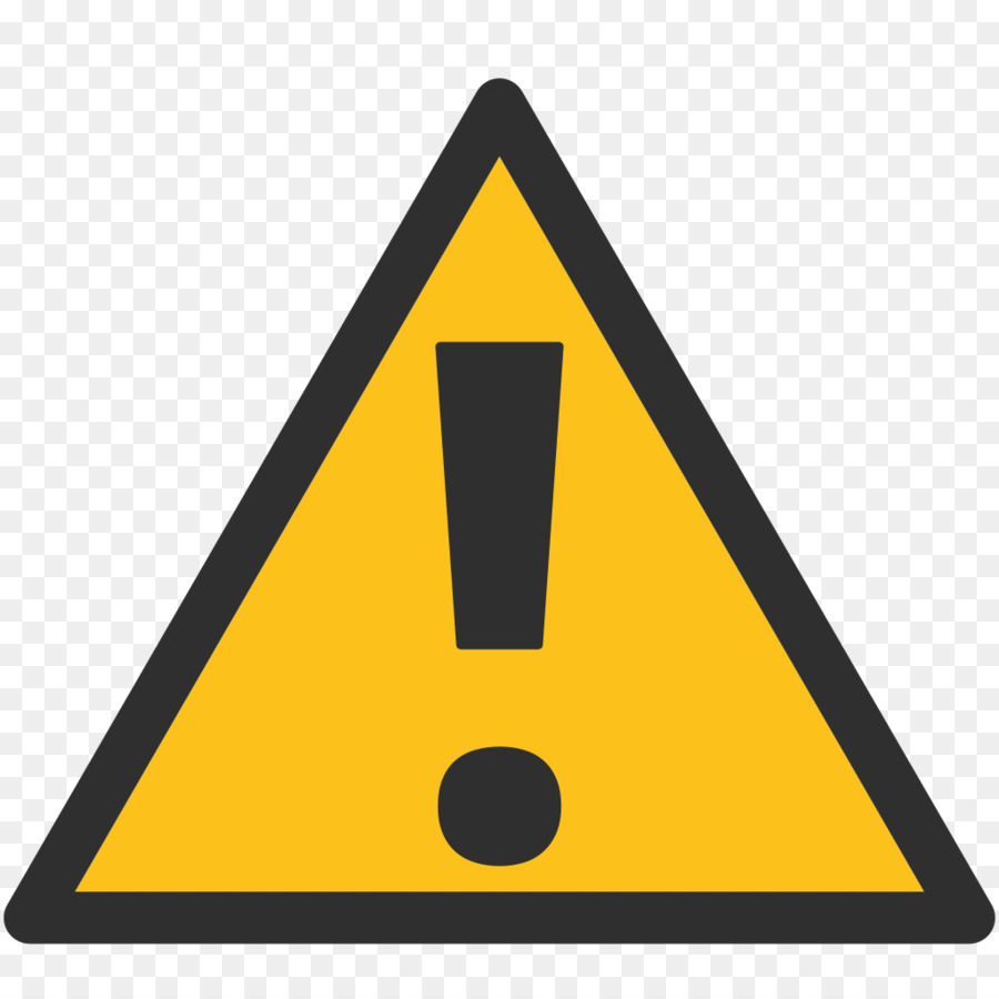 Danger sign text messaging. Caution clipart emoji