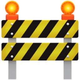 Caution clipart emoji. Construction u f a