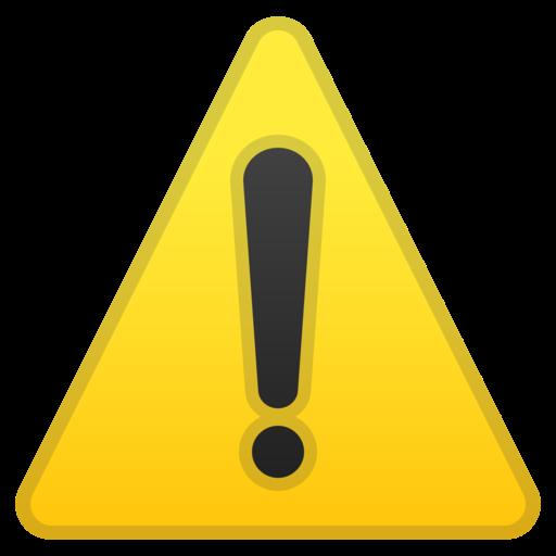 Caution clipart emoji.  warning google android