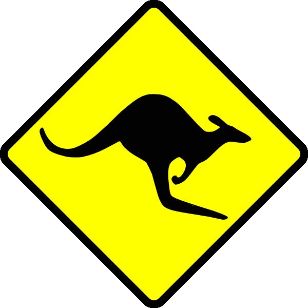 Kangaroo clipart family. Caution clip art at