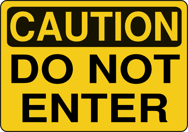 caution clipart gambar