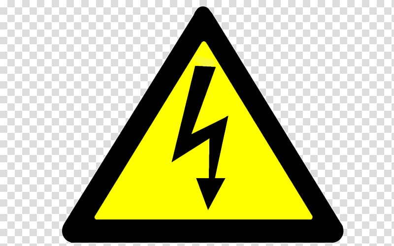 Caution clipart hazard sign. Electricity electrical injury sticker