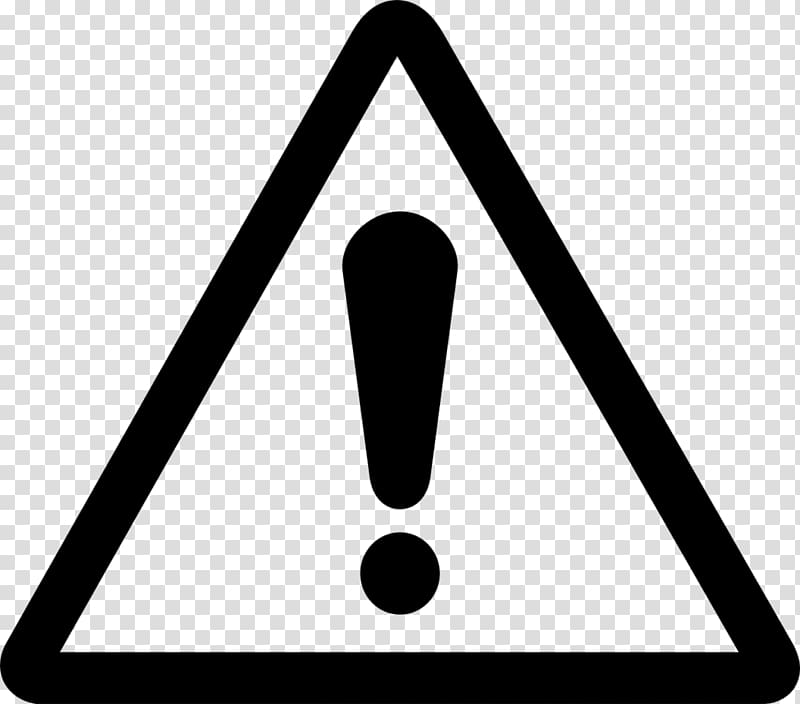 Exclamation mark interjection warning. Caution clipart hazard sign