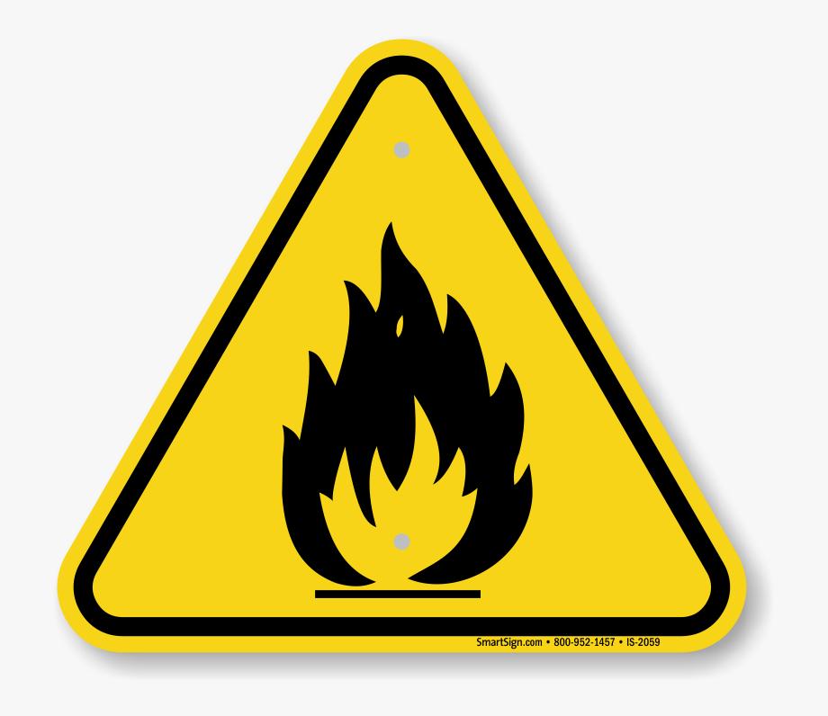 Toxic fire hazard sign. Caution clipart logo