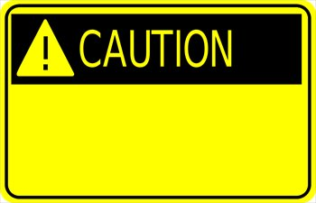 Free sign w exclamation. Caution clipart logo