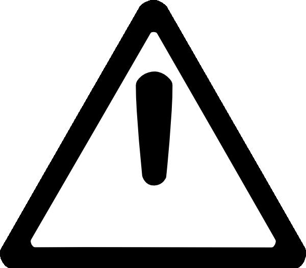 Caution clipart mark. Black white clip art