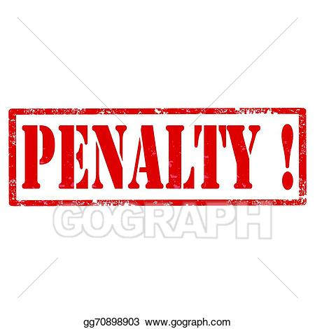 Clip art vector stamp. Caution clipart penalty