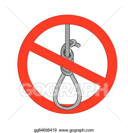 Caution clipart penalty. Vector illustration stop gallows