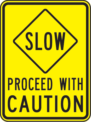 . Caution clipart proceed with caution