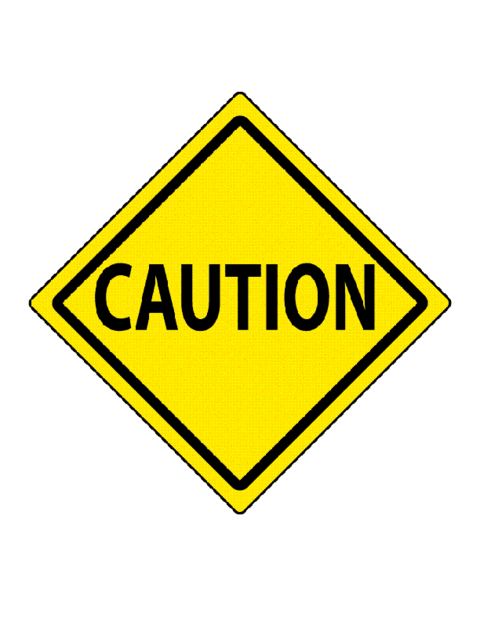 Sign road signs . Caution clipart proceed with caution
