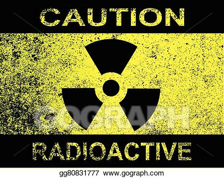 Caution clipart radioactive. Eps illustration sign vector