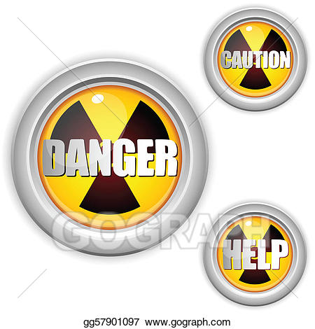 Eps vector danger yellow. Caution clipart radioactive