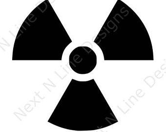 Caution clipart radioactive. Symbol etsy hazard danger