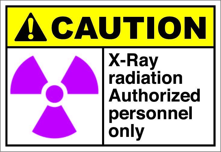 X ray radiation authorized. Caution clipart radioactive