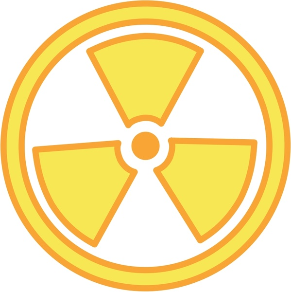 Warning free vector in. Caution clipart radioactive