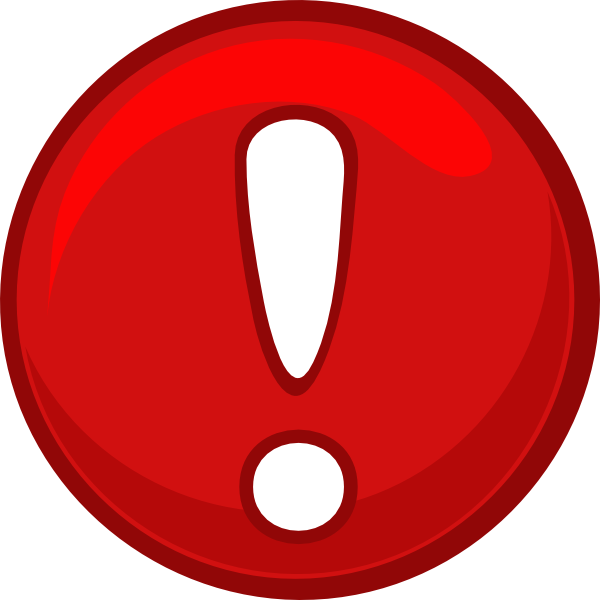 Important clipart warning. Red alert round icon