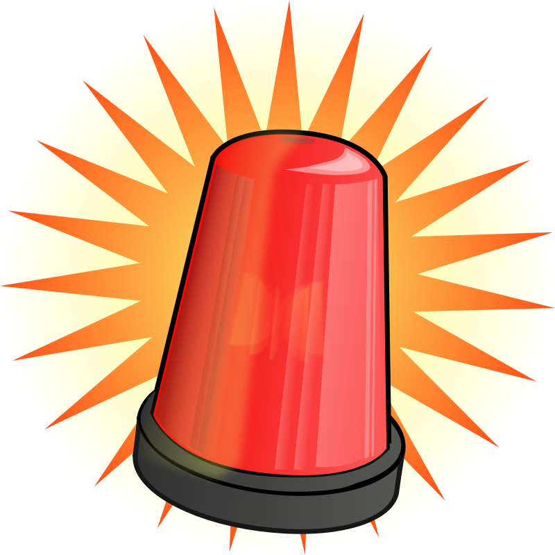 Lights clipart cartoon. Warning light clipground