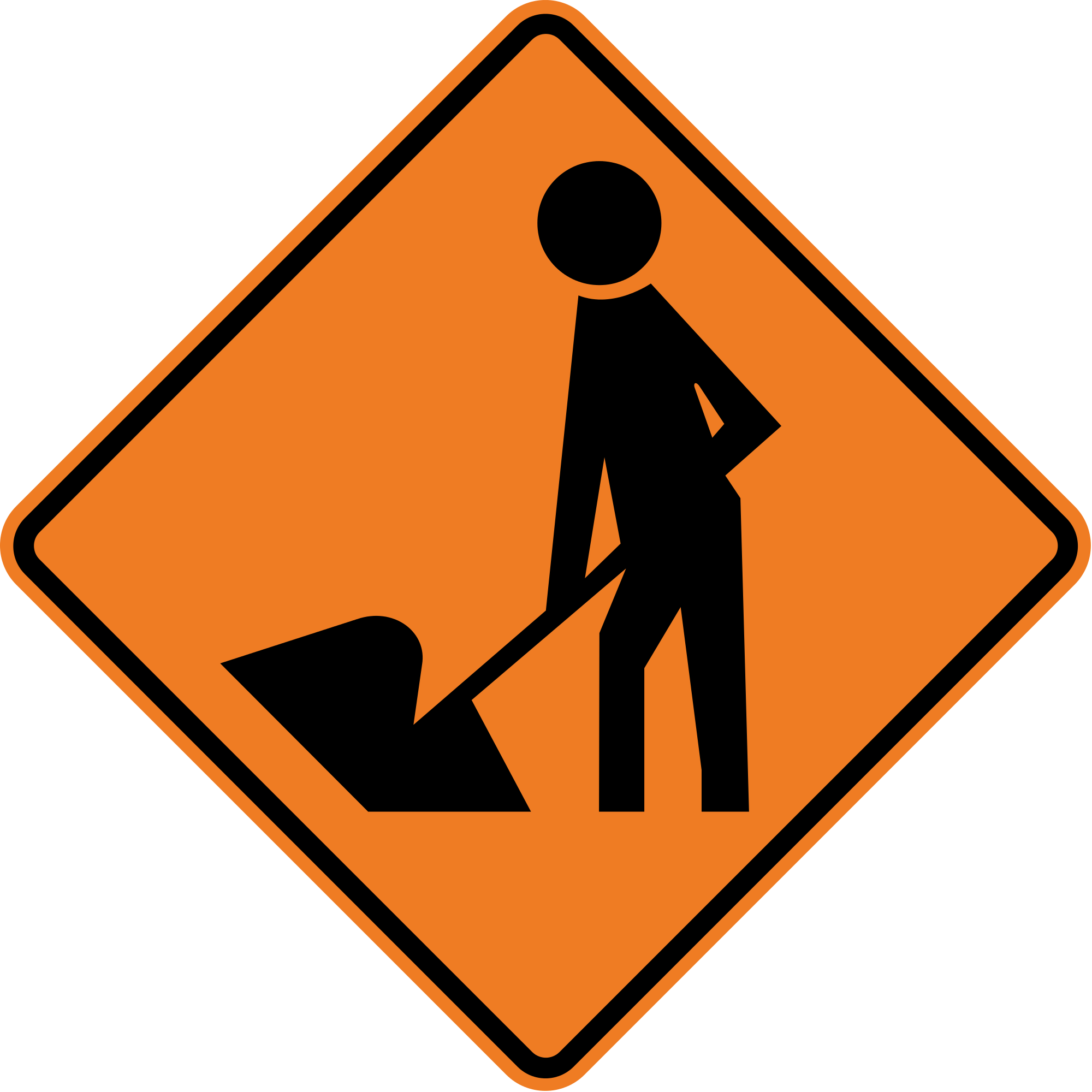 Clipart road road repair. File new zealand sign