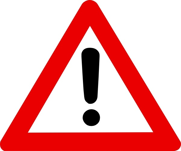 Caution clipart safety sign. Warning clip art free