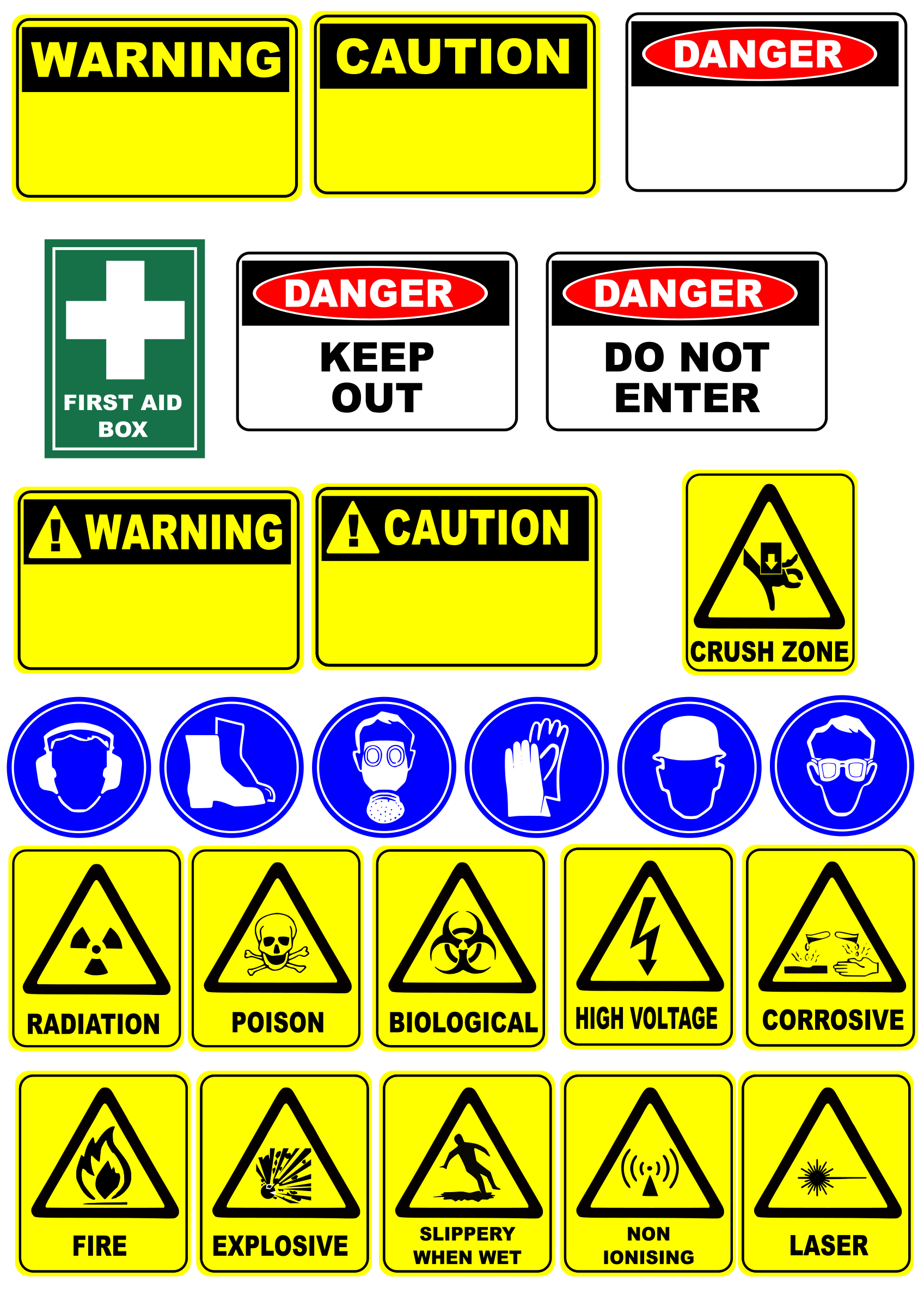 Caution clipart safety sign. Signs big image png