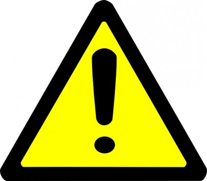 Caution clipart safety sign. Free warning cliparts download