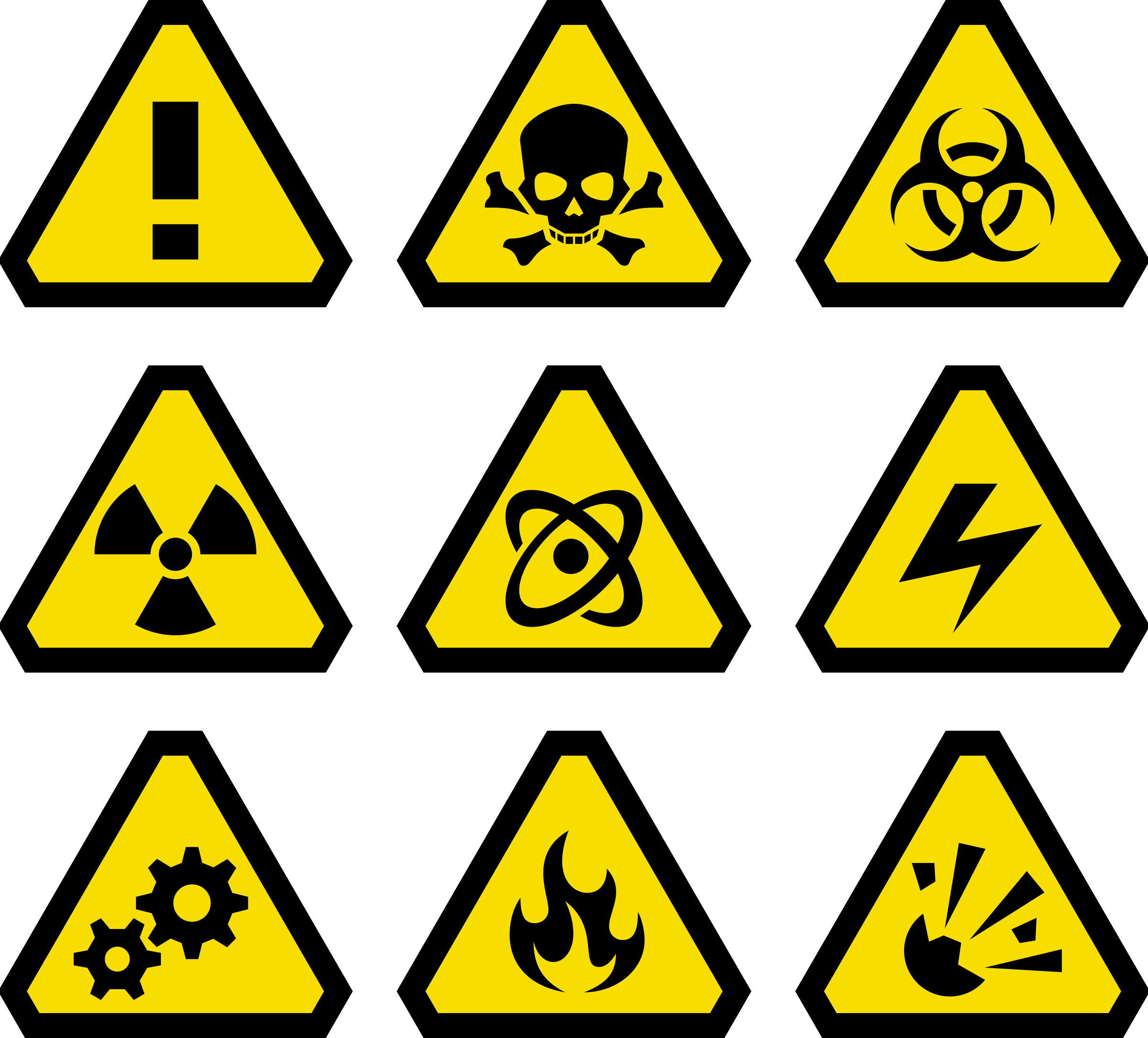 Triangular clipart warning. Danger sign pencil and