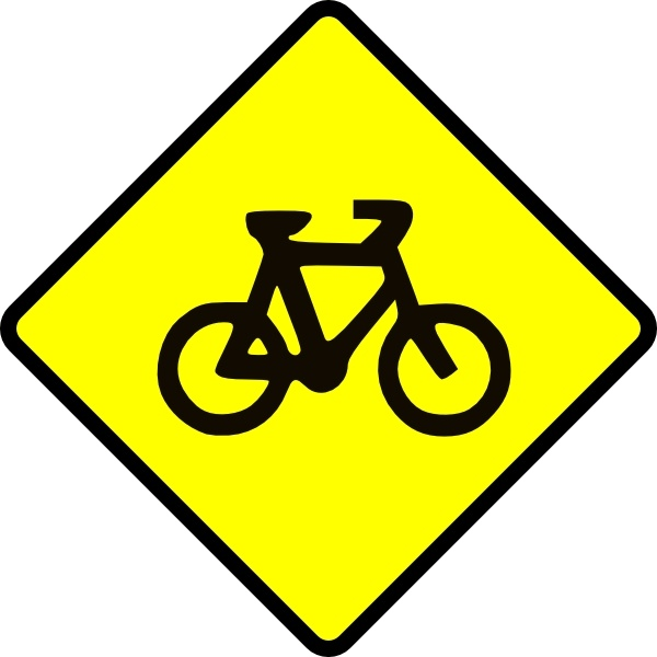 Bike road sign symbol. Caution clipart situation