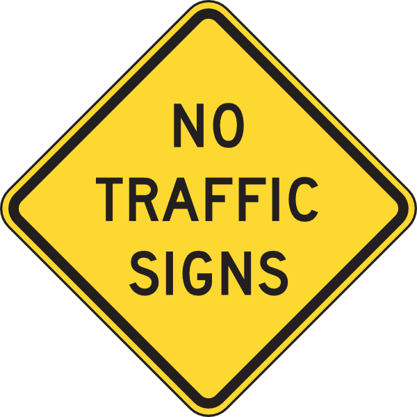 Limpertinence no traffic signs. February clipart sign
