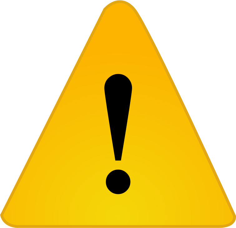 Caution clipart symptom. The six warning signs