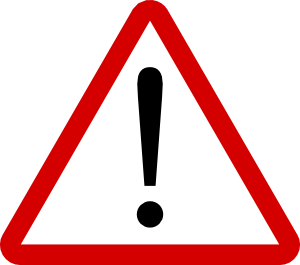 Hypertension warning signs panda. Caution clipart symptom