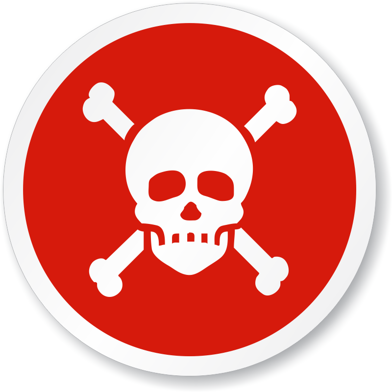 Poison poisonous chemicals warning. Caution clipart toxic sign