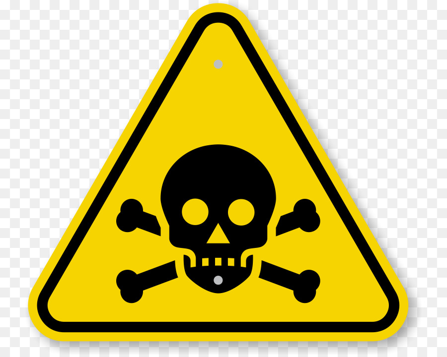 Caution clipart toxic sign. Poison toxicity warning label