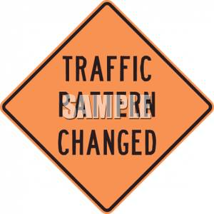 Caution clipart traffic. Pattern changed road sign
