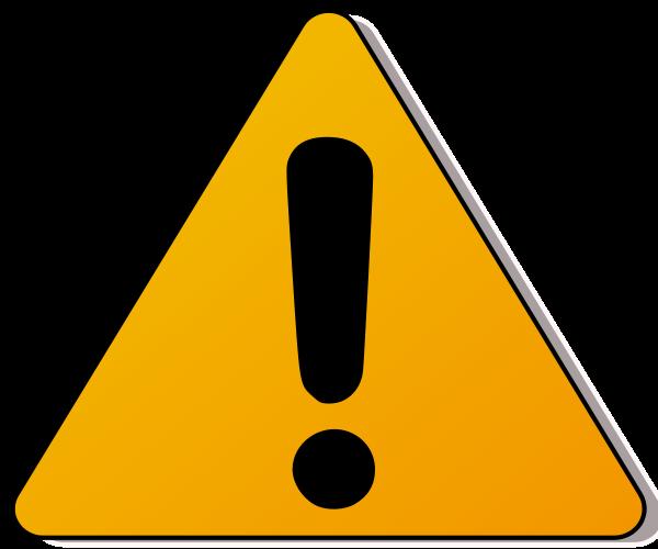 caution clipart transparent