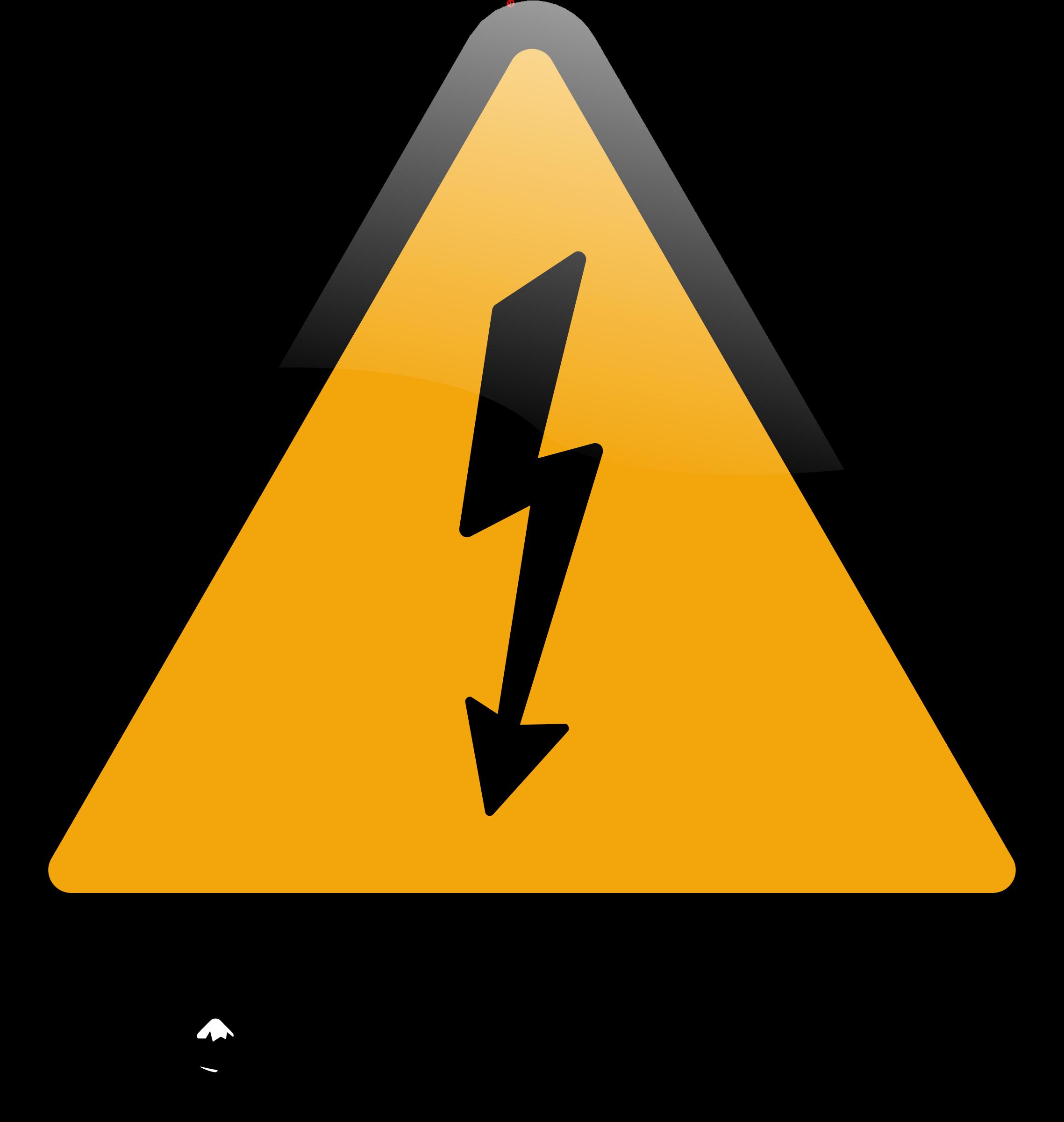 High voltage big image. Caution clipart transparent